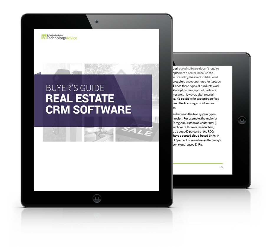 real estate software PDF cover inside iPad