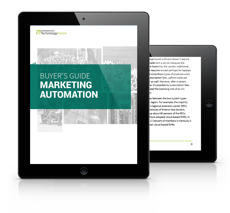 Marketing Automation Software PDF inside iPad
