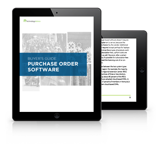 Purchase Order Software Buyer's Guide Tablet