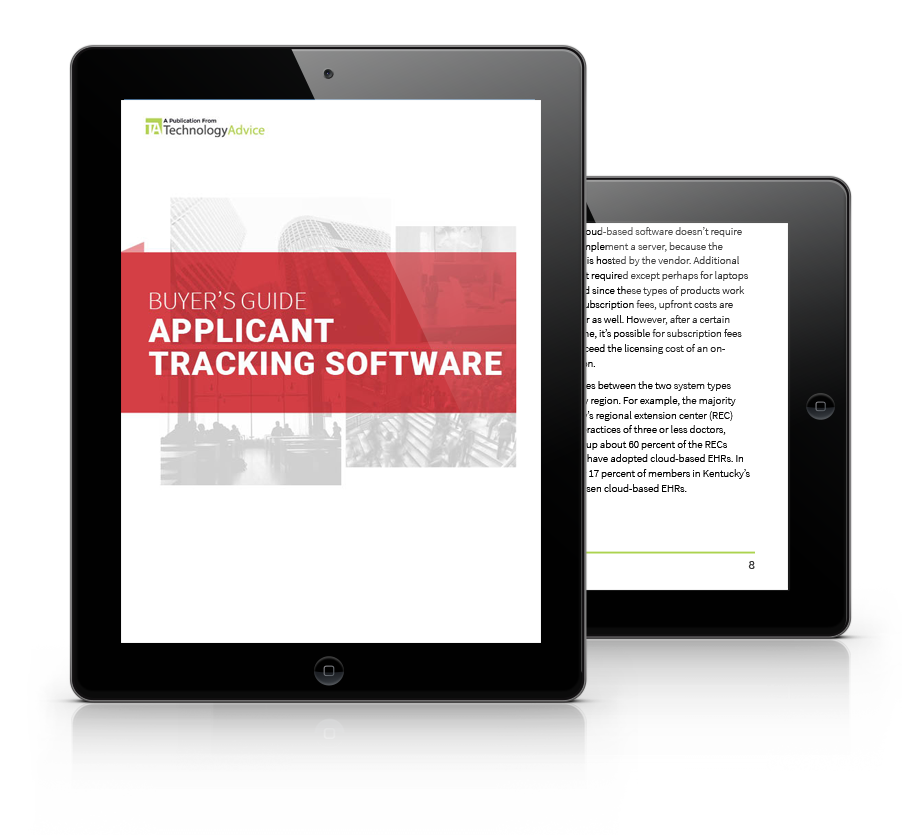 Guide to Applicant Tracking Software PDF inside iPad