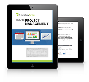 Beginner's Guide to Project Management Software PDF inside iPad