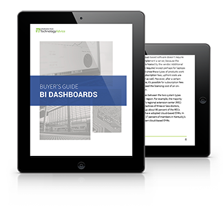 Beginner's Guide to BI Dashboard Software PDF inside iPad