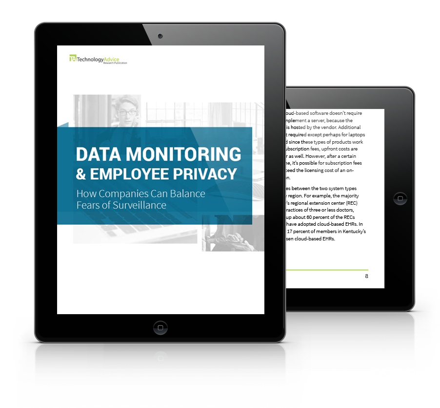 Data Monitoring and Employee Privacy Study PDF inside iPad