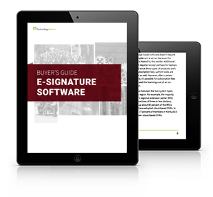 E-Signature Software Buyer's Guide Tablet
