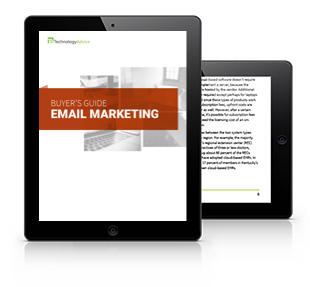 Email Marketing Software Buyer's Guide Tablet