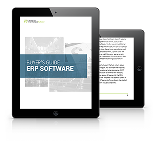 Guide to ERP Software PDF inside iPad