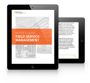 Guide to Field Service Management Software PDF inside iPad