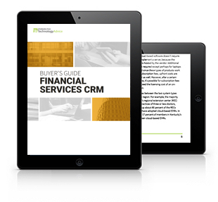 Financial Services CRM Software Guide Tablet
