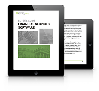 Financial Services Software Buyers Guide tablet
