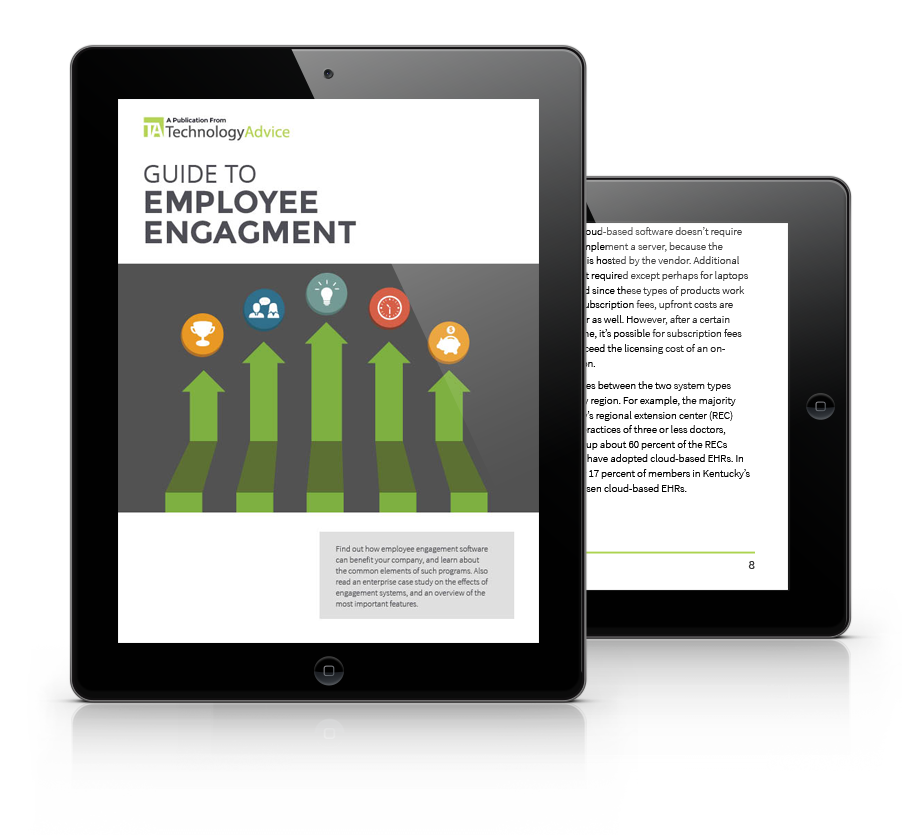 Guide to Employee Engagement PDF inside iPad