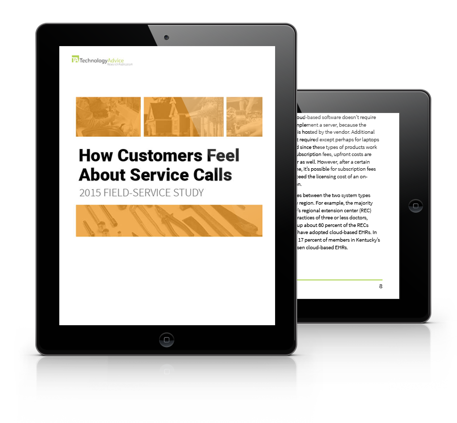 How Customers Feel About Service Calls PDF inside iPad