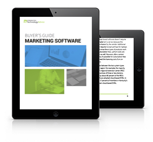 Marketing Software Buyer's Guide Tablet