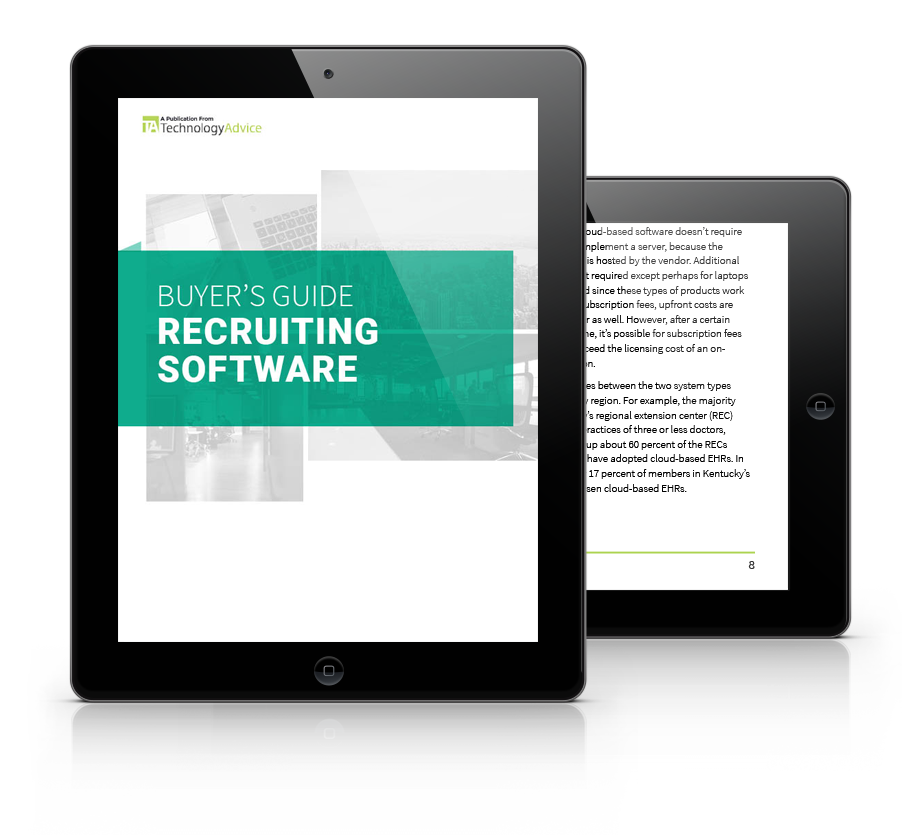 Guide to Recruiting Software PDF inside iPad