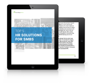 Top Five HR Solutions for SMBs tablet