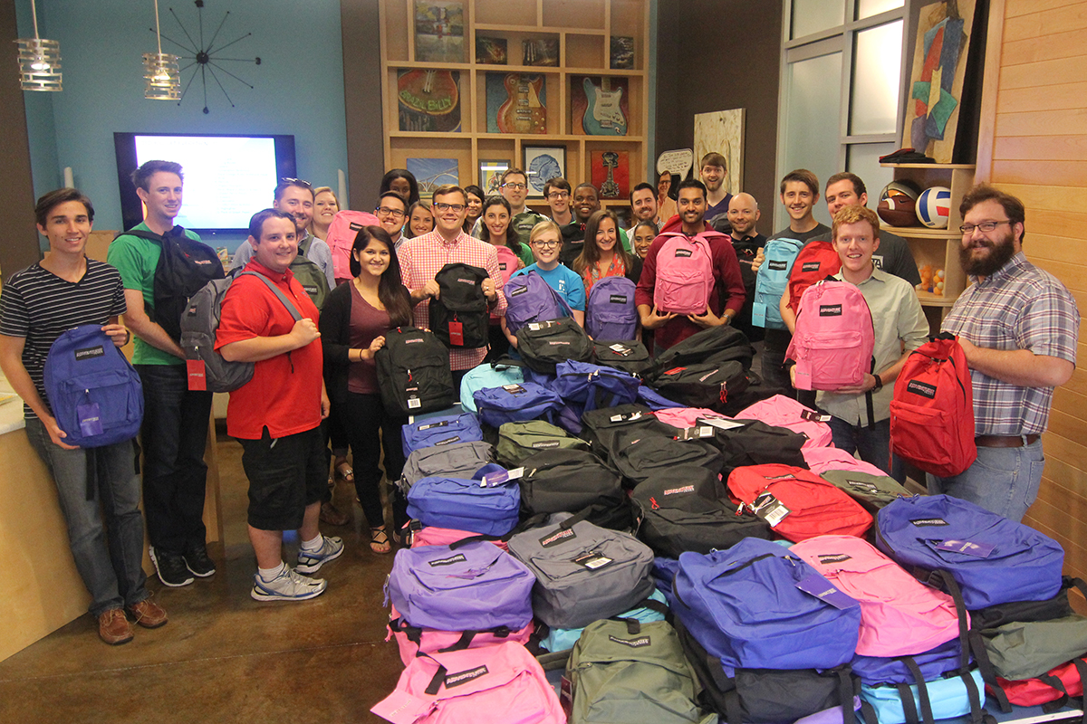 TechnologyAdvice YouthVillages Backpacks
