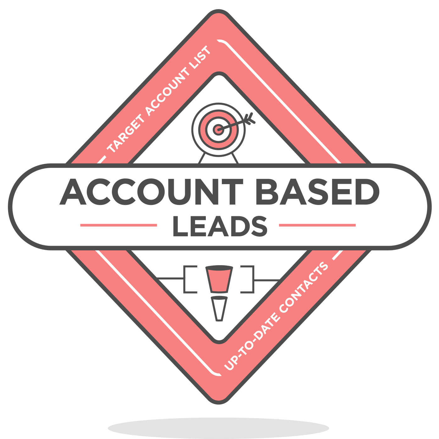 account-based leads badge icon