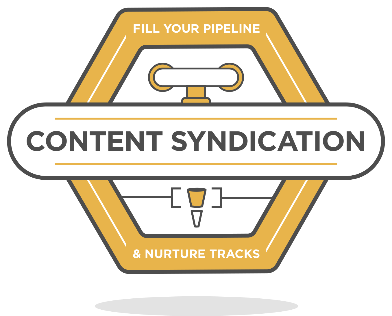 content syndication leads badge icon