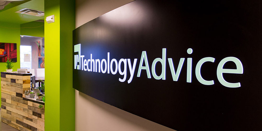 Entrance sign to the TechnologyAdvice office