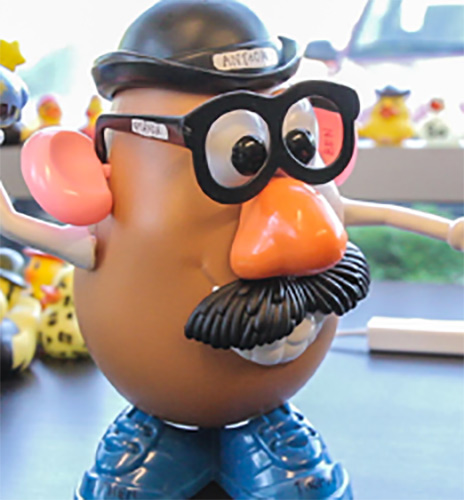 Engineering team Mr. Potato Head mascot