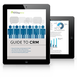 Beginner's Guide to CRM Software PDF inside iPad