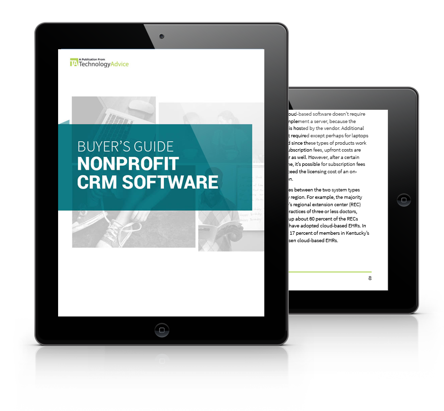 Nonprofit CRM Software PDF inside iPad