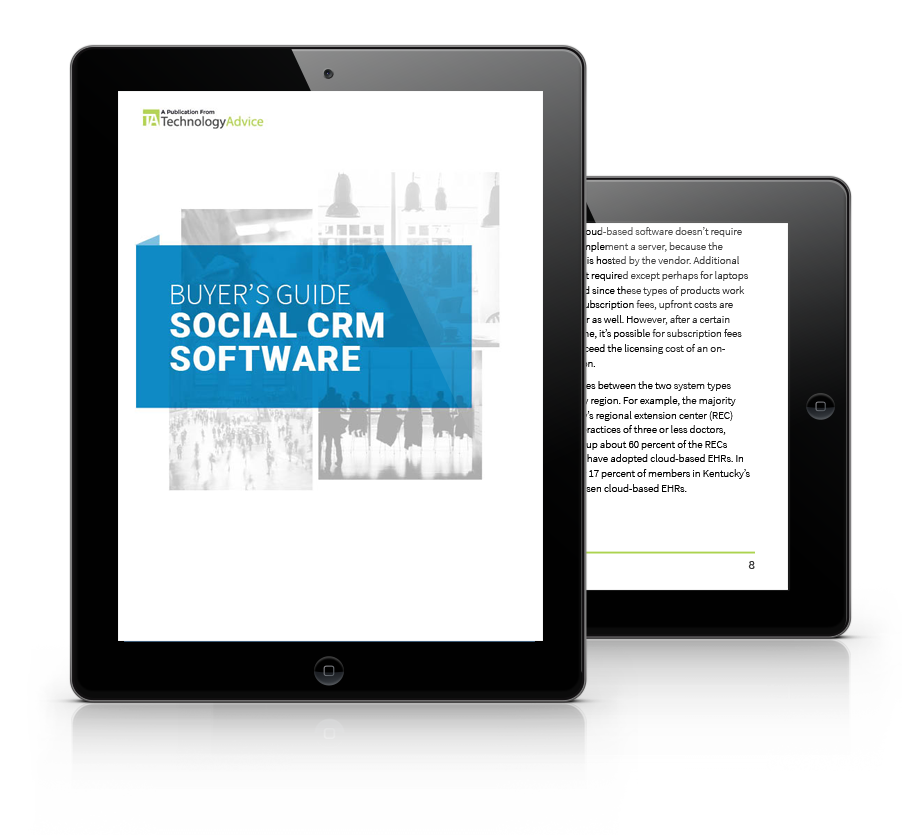 Social CRM Buyer's Guide Cover inside iPad