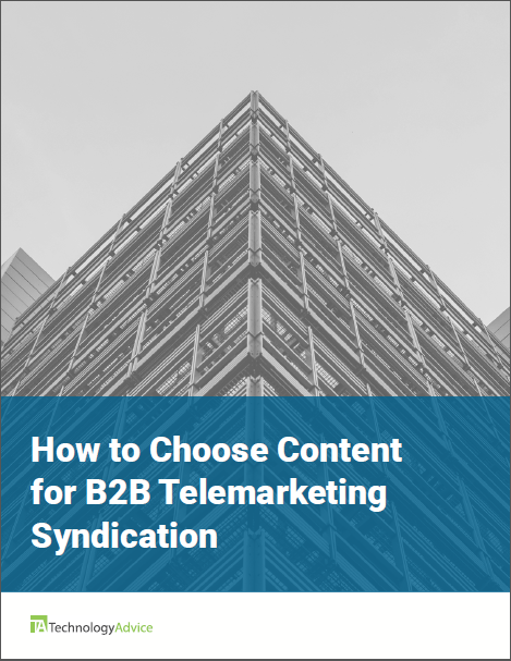 TechnologyAdvice Research Guide: How to Choose Content for B2B Telemarketing Syndicatoin