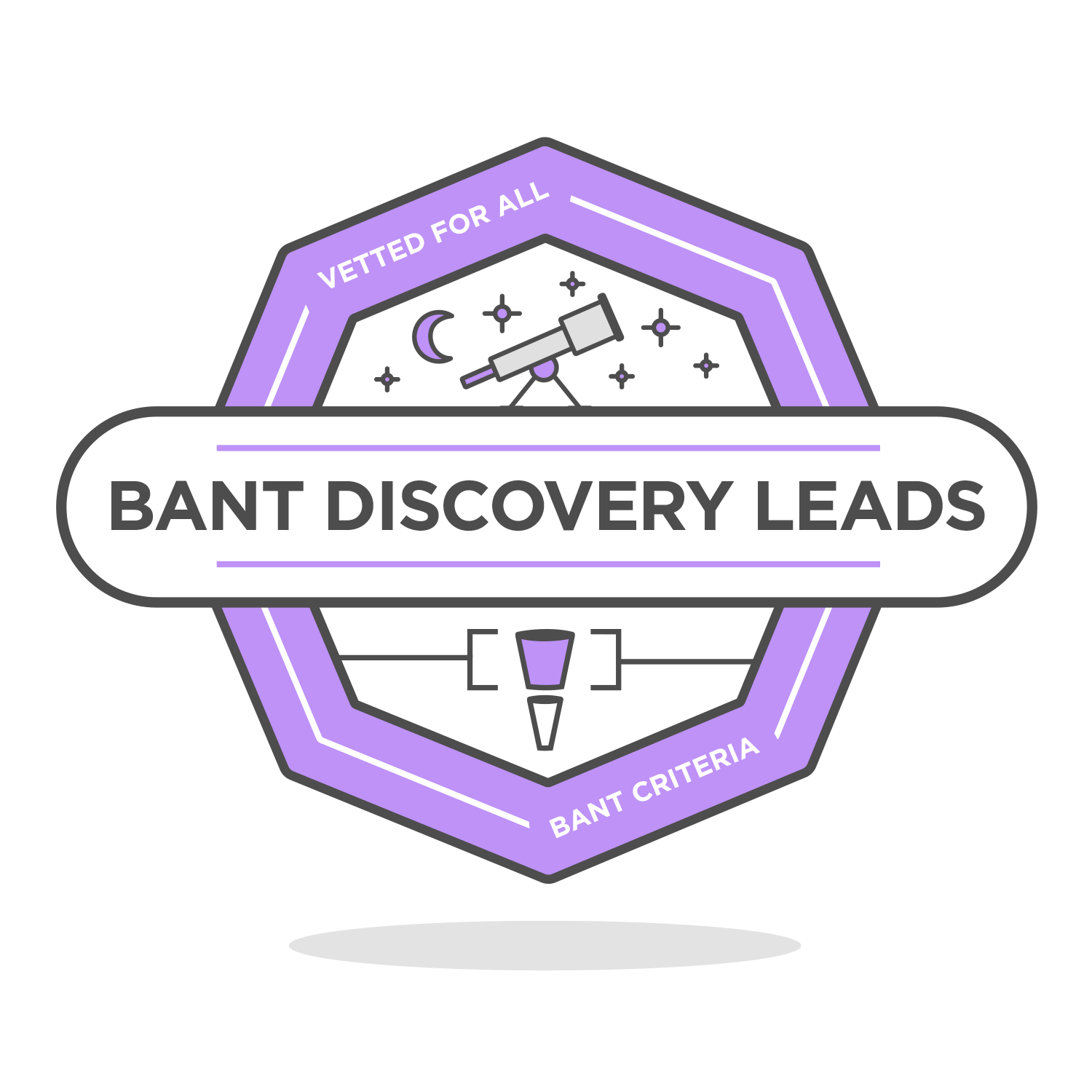 bant discovery leads badge icon