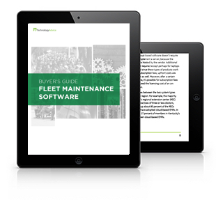 Fleet Maintenance Software Buyer's Guide Tablet