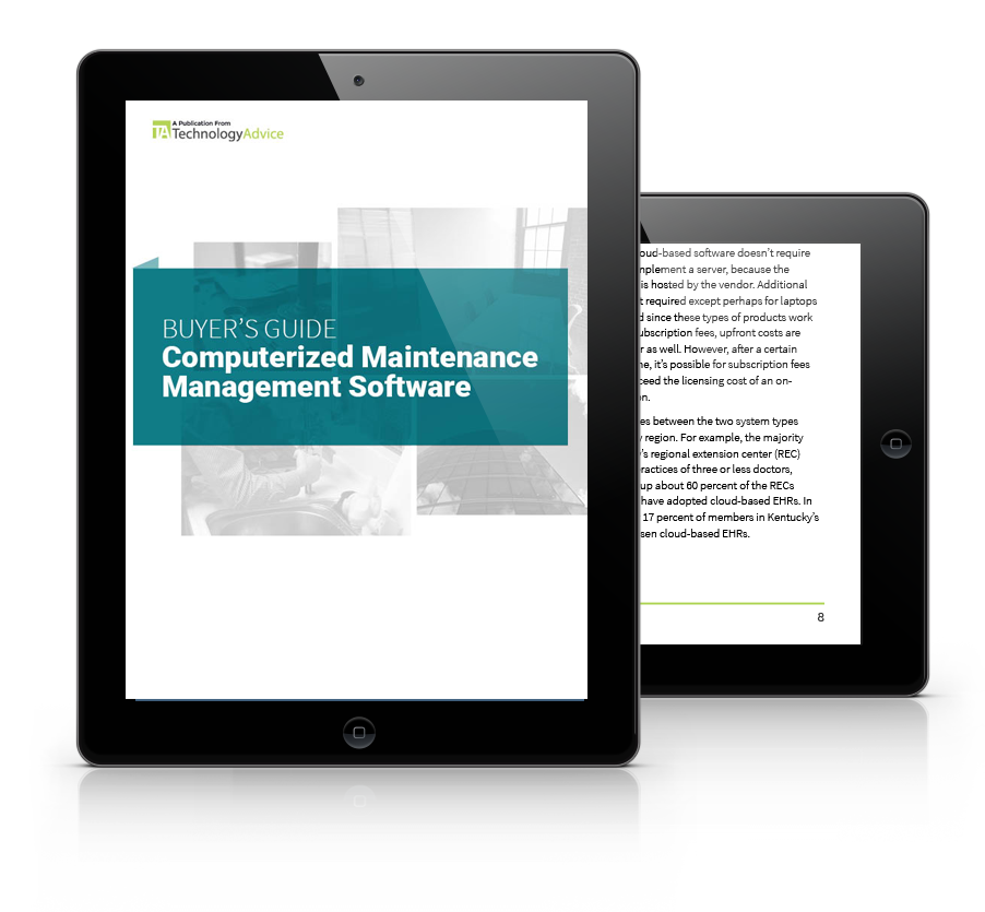 Guide to CMMS Software PDF inside iPad