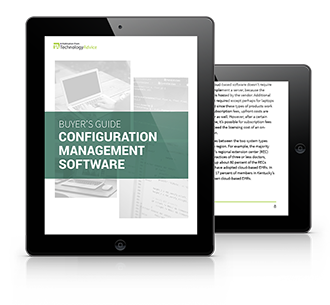 Configuration Management Buyer's Guide tablet