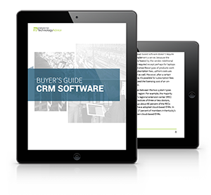 CRM Software PDF inside iPad