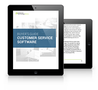 Guide to Customer Service Software PDF inside iPad