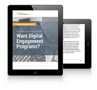 Employee Engagement Report PDF inside iPad