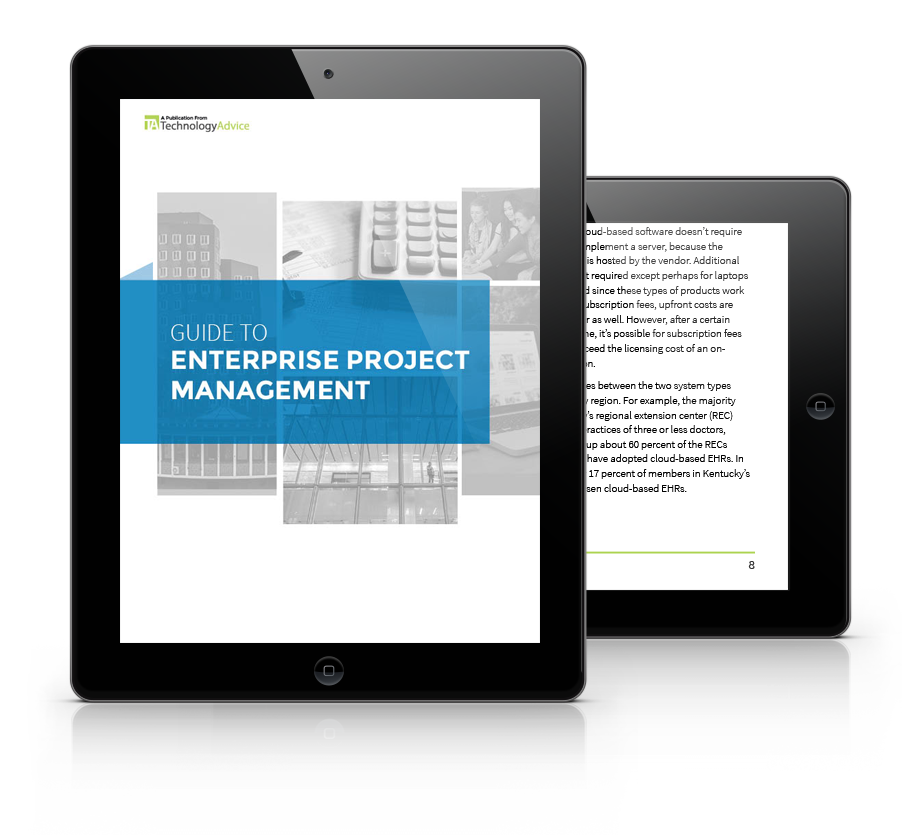 Guide to Enterprise Project Management Software PDF inside iPad