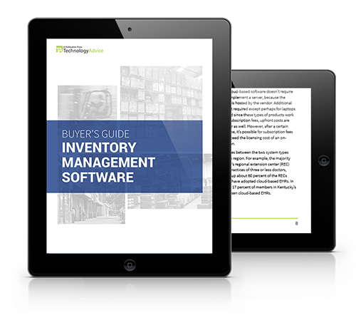 Guide to Inventory Management Software PDF inside iPad