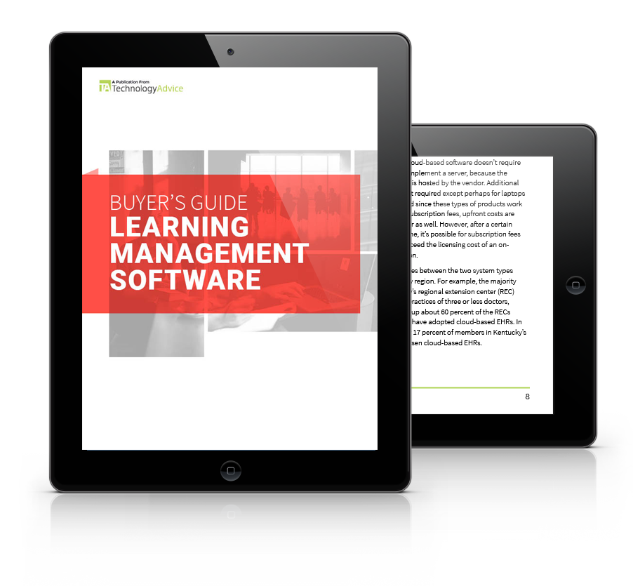 Guide to Learning Management Software PDF inside iPad