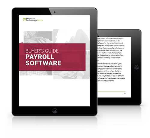 Guide to Payroll Software PDF inside iPad