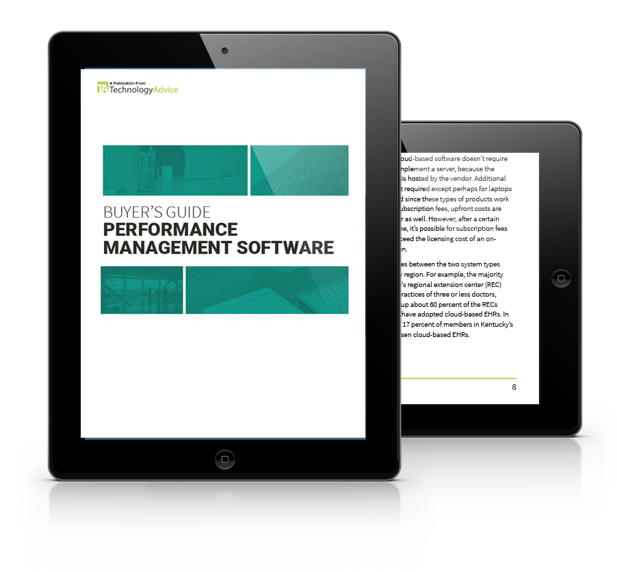 Guide to Performance Management Software PDF inside iPad