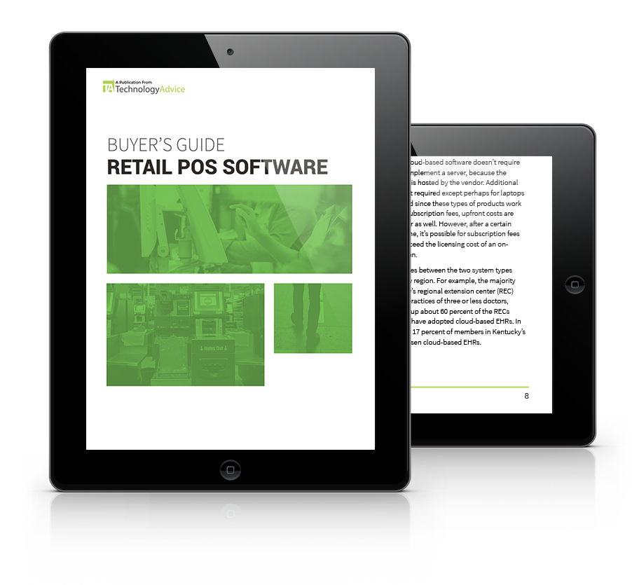 Guide to Retail POS Software PDF inside iPad