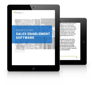 Sales Enablement Software Buyer's Guide Tablet