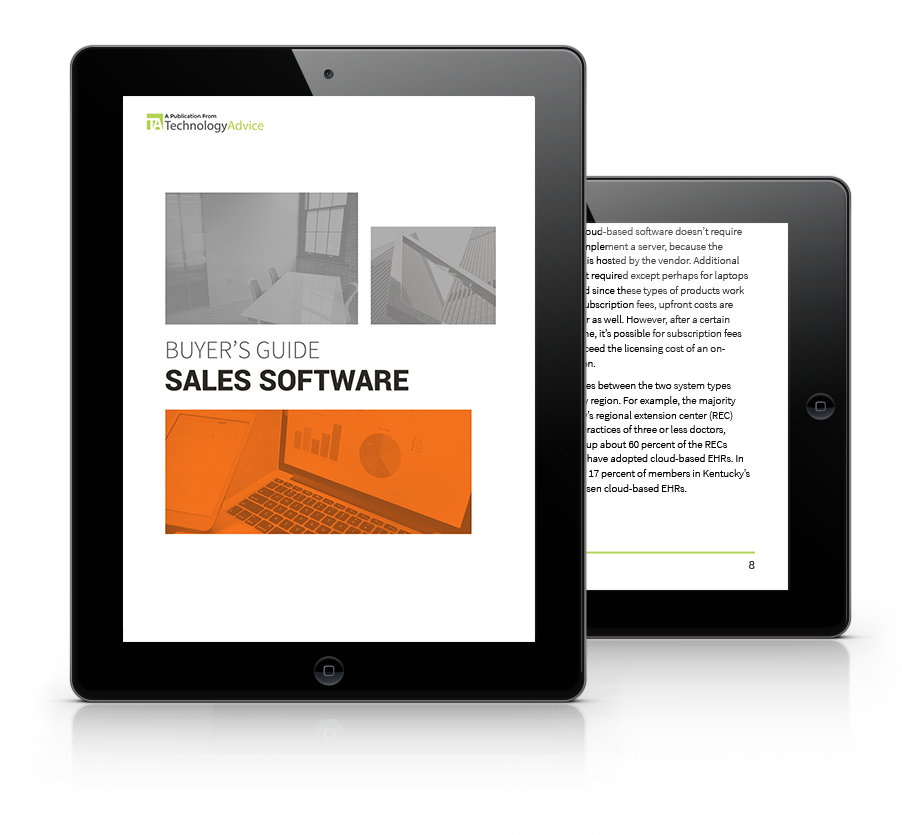 Sales Software Buyers Guide tablet