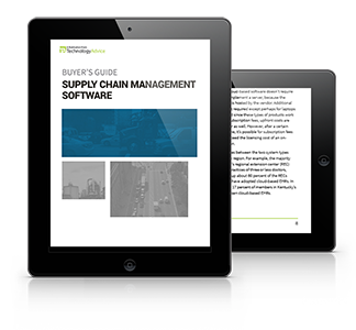 Guide to Supply Chain Management Software PDF inside iPad