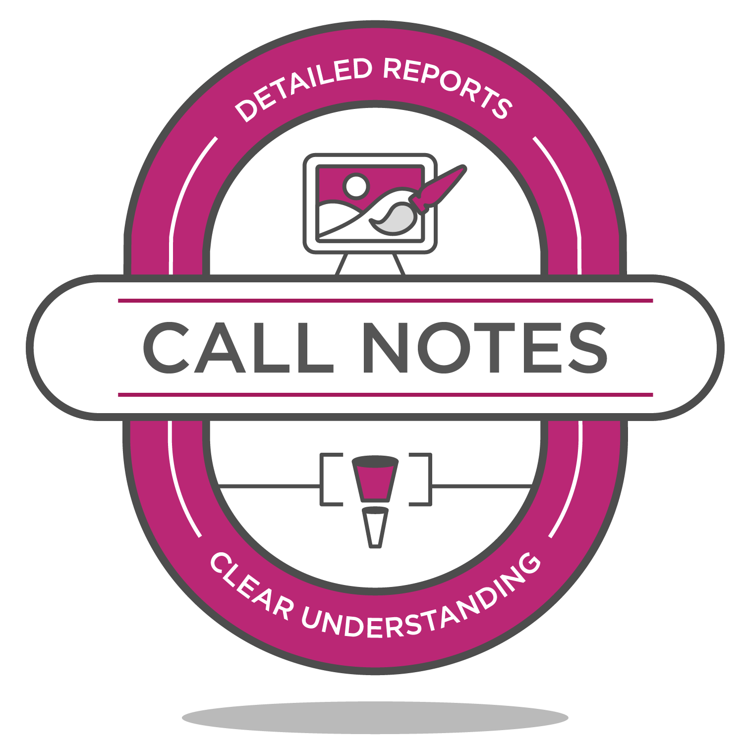 call notes badge icon