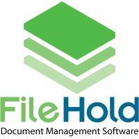 FileHold digital asset management software logo.