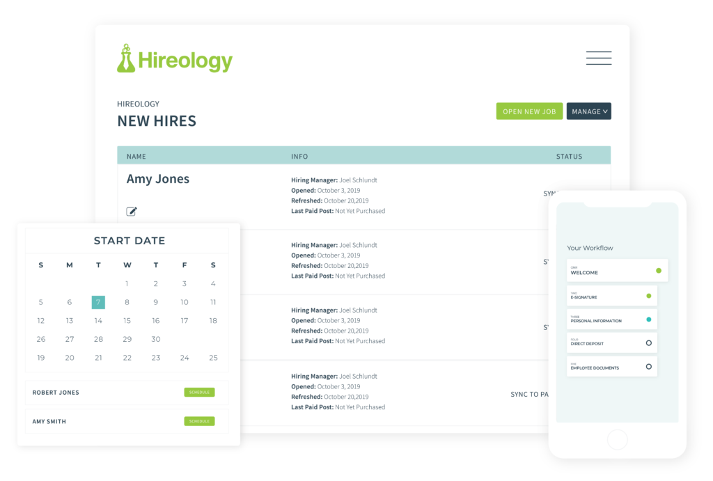 hireology new hire checklist for onboarding.