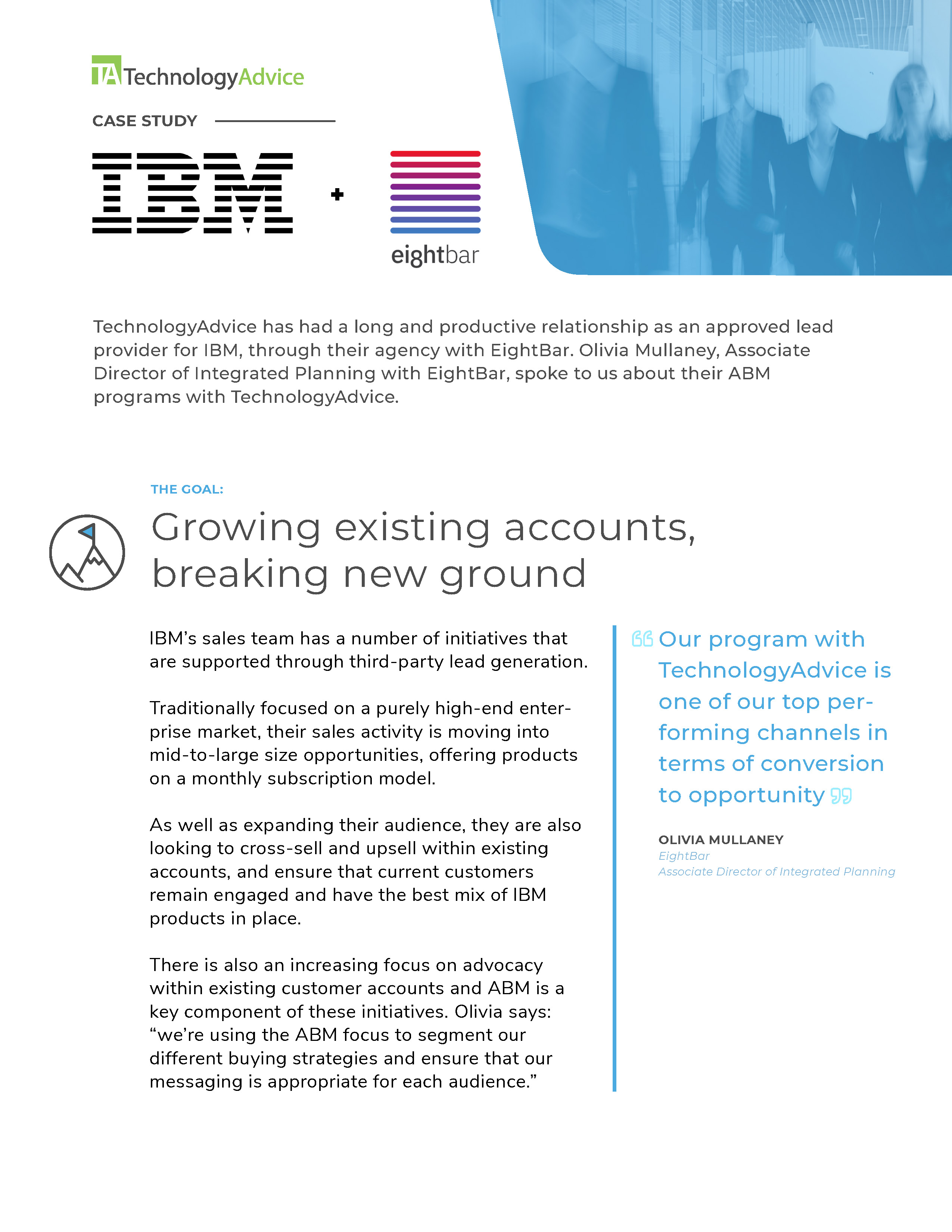 TechnologyAdvice Case Study: IBM + EightBar