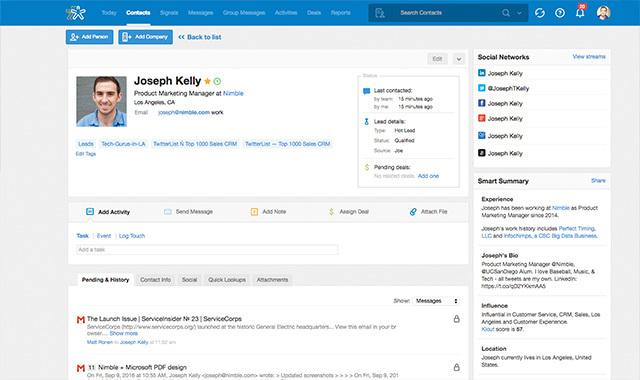 Nimble: Social CRM Platform