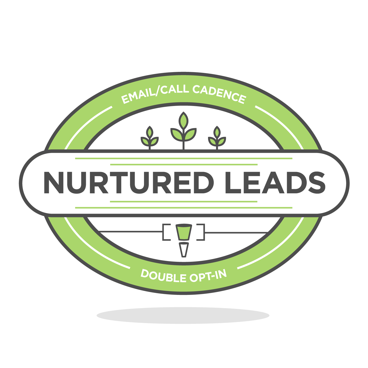 nurtured leads badge icon
