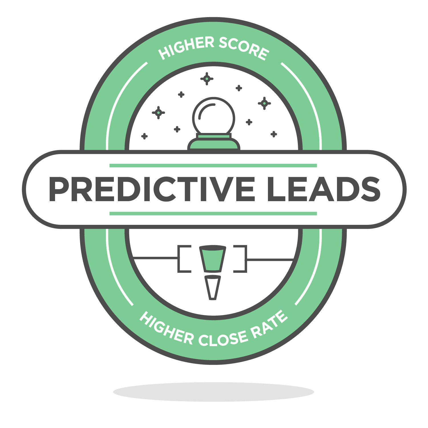 predictive leads badge icon